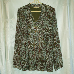 Michael Kors Long Sleeve Shirt Size XL
